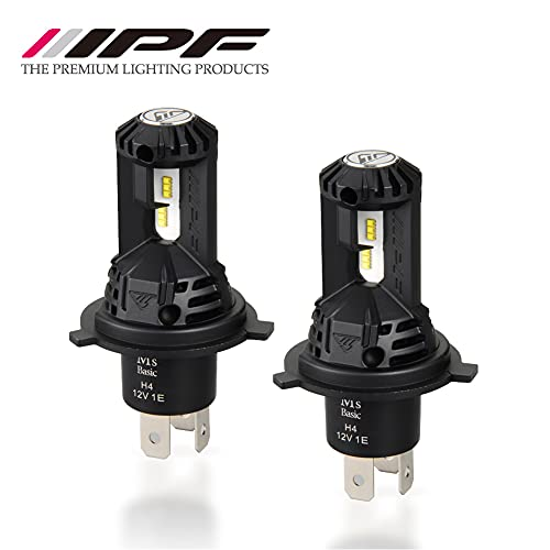 Amazon.co.jp 限定M s Basic by IPF ヘッドライト フォグランプ LED バルブ H4 6500K スマートシリーズ ハロゲンサイズ型 ファン付きモデル アシンメトリートップシェード採用 AMZ-HFE141