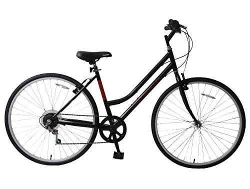 Ammaco. Professionele Avenue 700c Womens dames Hybrid City Trekking Tourist Commuter Bike Stap door 18