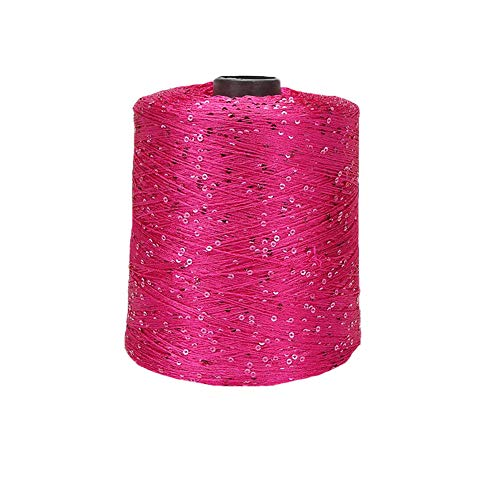 CLISIL500GRAM | 1.1LBS 핑크 스팽글로 뜨개질 스레드 반짝 반짝 뜨개질을 하는 털실 반짝이 루렉스 털실을 인어가 꼬리 액세서리를 털실 DIY 마크라메 천 가방