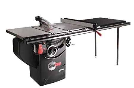 SawStop PCS31230-TGP252 3-HP Professional Cabinet Saw Assembly with 52-Inch Professional T-Glide Fence System, Rails and Extension Table