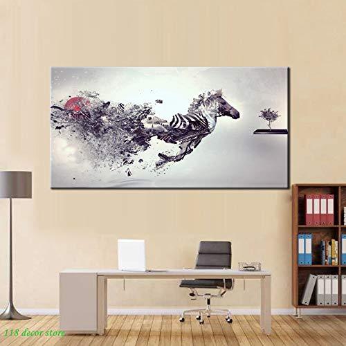 Sanzangtang Modern abstract canvas schilderij Medley Pegasus HD drukposter muurkunst schilderij woonkamer decoratie geschenk zonder lijst