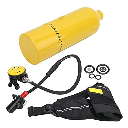 Bnineteenteam Tanque de oxígeno de Buceo, Equipo de Tanque de Buceo de 1L, Tanque de oxígeno portátil, Equipo de Dispositivo de respiración subacuático(Amarillo)