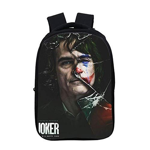 Joker rucksäcke,3d Drucken,Anime Rucksäcke,Konformität Ergonomie,Verschleißfest,Geeignet für Sport,Reisen und Schule. (Joker8,13 Zoll)