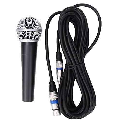 Bnineteenteam Micrófono dinámico de Mano Micrófono Profesional de Karaoke con 5 Metros de Cable de conexión para Cantar, Hablar, Bodas, Escenario y Actividades al Aire Libre