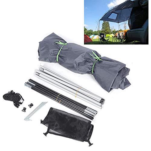 Toldo para campistas, carpa para automóvil duradera con soporte de hierro para poste de hierro para viajes en automóvil para paseos en bote para acampar