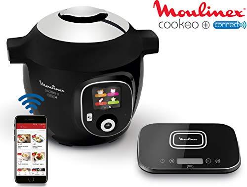 Moulinex Multicuiseur Intelligent Cookeo+ Connect Grameez via Application Bluetooth 6L 6 Modes de Cuisson 150 Recettes Préprogrammées Jusqu'à 6 Personnes + Balance de cuisine incluse Noir CE856800