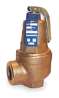 Safety Relief Valve, 1-1/4 In, 100 psi by APOLLO