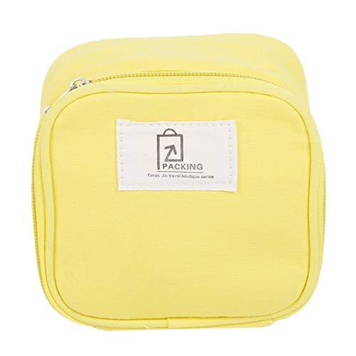 Yingwei VWH Travel Cosmetic Bags Sac de Rangement Le Maquillage Multifonction Wash Bags (Jaune)
