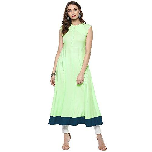 Indian Virasat Women's Cotton Pastel Full Length Anarkali