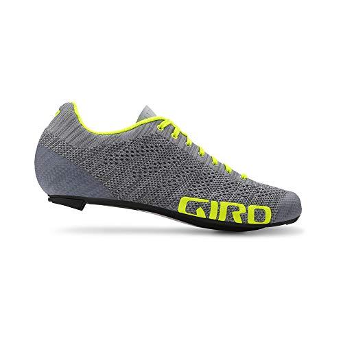 Giro Empire E70 Knit Road, Zapatos de Ciclismo de Carretera para Hombre, (Grey Heather/Highlight 000), 43 EU