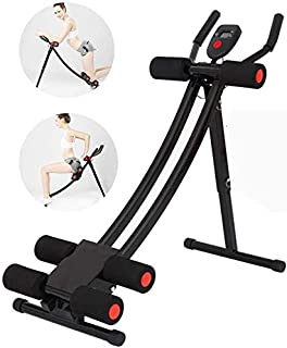 Ab Machine Exercise Equipment, Foldable Sit Up Bench Adjustable Workout Bench Fitness Equipment for Home Gym, Abdominal Hy...