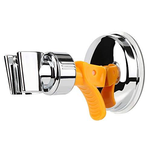 FEALING Duschkopfhalterung Saugnapf, Verstellbarer Brausehalter Bad Saugnapf mit 360°Drehbar Brausehalter für Handbrause, Abnehmbarer Handbrause Halterung und an der Wand montierte Saughalterung