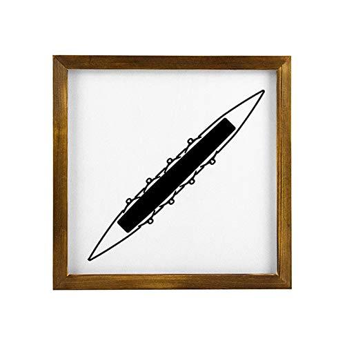 qidushop Letrero de madera con diseño de kayak negro de remo, carteles de madera, impresiones artísticas para sala de estar, decoración de pared, placa de madera para Navidad, Acción de Gracias