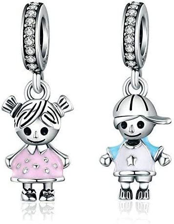 7 little boy and girl charms