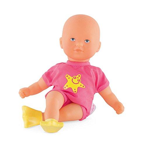 Corolle FBN04 9000120050 - Mon Premier Poupon Corolle / Mini Badepuppe, pink / Französische Puppe mit Charme und Vanilleduft