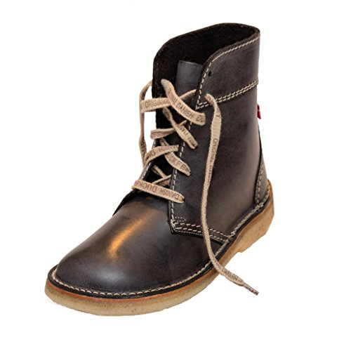 Duckfeet Faborg Unisex Lace-Up Ankle Leather Boot - Slate - 44 M EU