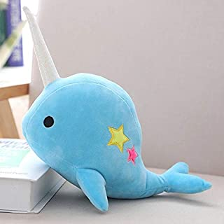 LAJKS Yesfeier 25/35Cm Narwhal Stuffed Soft Animal Whale Plush Toy Kids Dolls for Children Birthday New Must Haves Gift Wrap Childrens Favourites 4T Superhero One Collection Holiday Must Ha
