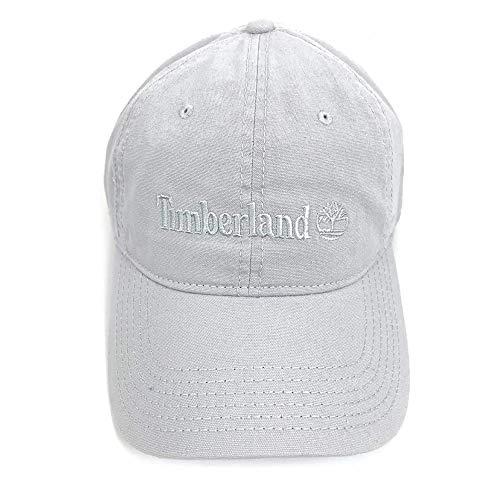 Timberland Men's Classic Logo Cotton Baseball Cap Hat (Light Grey)