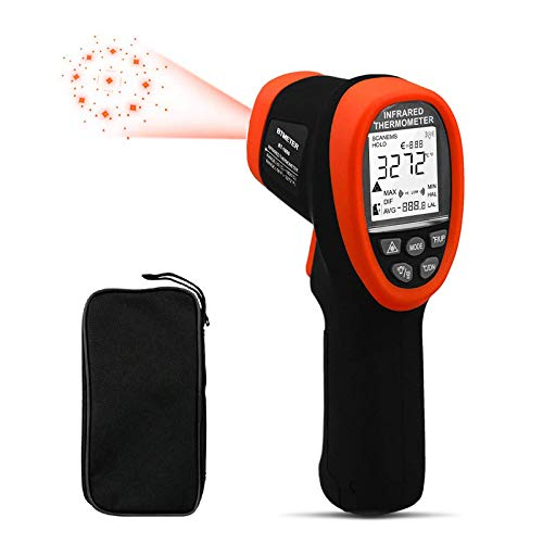 BTMETER BT-1800 Infrarot Thermometer, laser temperaturmesser (-50°C bis 1800°C) temperaturmessgerät, 50:1 temperaturmessgerät voor Industrie HVAC Kiln Forge Furnace【Nicht für Menschen】