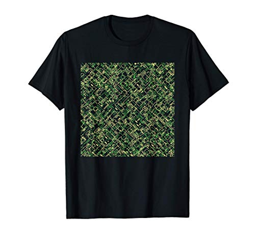 Digital Camo-uflage Pattern Army Military Cool Novelty Gifts Camiseta