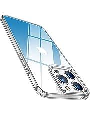 TORRAS 強化ガラス iPhone 13 Pro 用 ケース 超透明 日本製9Hガラス 薄型 黄変なし 耐衝撃 TPUバンパー ストラップホール付き レンズ保護 2021年6.1インチ アイフォン 13 Pro 用 カバー グラデーションブルー