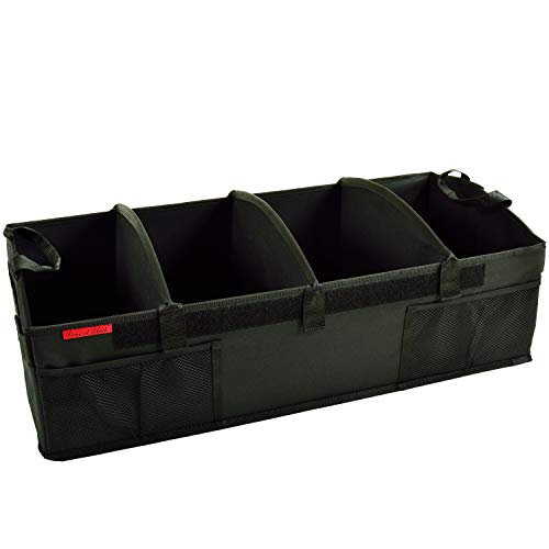 Picnic at Ascot Heavy Duty Rigid Base Trunk Organizer -70 LB Capacity - Adjustable Dividers - 30' wide x 15' deep - Designed & Quality Approved in the USA