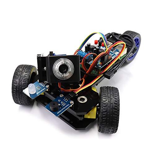 Freenove Three-Wheeled Smart Car Kit for Raspberry Pi 4 B 3 B+ B A+, Robot Project, Tutorial and Code, App Control, Live Video, Ultrasonic Camera Servo Wireless RC
