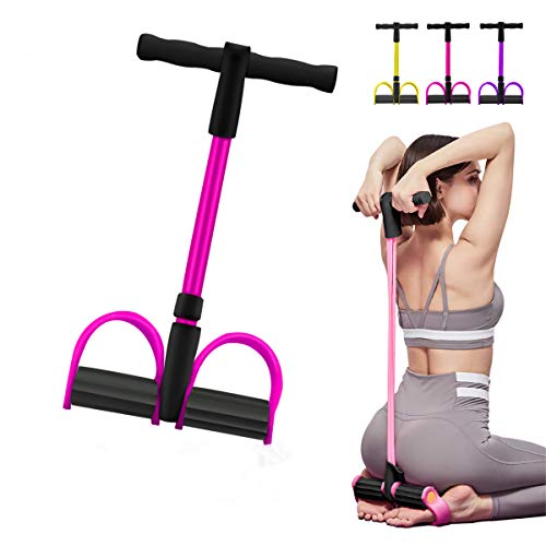 Camfosy Body Tube Fitnessband Expander Stark Schaumstoffgriff Portable Pilates Resistance Band Toning Bar Home Gym Body Workout,Yoga,Fitness,Stretch,Sculpt Pink F
