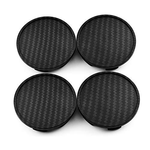 65mm(2.56in)/59mm(2.32in) Carbon Fiber Grain Car Wheel Center Hub Caps Set of 4 for TSW Wheel 2003 Avus Rim BR3Z-1130-B