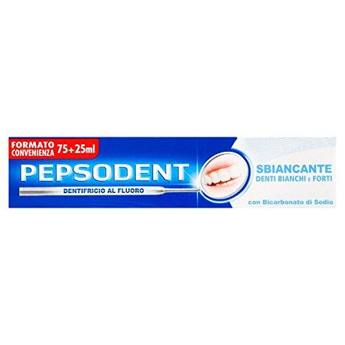 Pepsodent Dentifricio al Fluoro, sbiancante denti bianchi e forti, 100 ml - [pacco da 12]