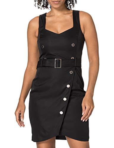 Morgan Robe portefeuille ROSITTA Vestido Informal, Negro, 38 para Mujer