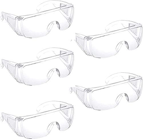 SunnyPro Protective Safety Glasses with Clear Lenses Transparent Eye Protection Goggles Splash product image