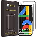 WFTE [3-Pack] Protector de Pantalla para Google Pixel 4A,9H Dureza,Huellas Dactilares Libre,Sin Burbujas,Cristal Templado Protector de Pantalla Google Pixel 4A