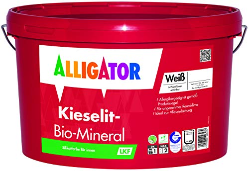 Alligator-Kieselit-Bio-Mineral - Wandfarbe weiß - Deckkraftklasse 1 - Innenwandfarbe (1,25 Liter)