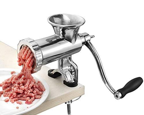 Hanchen Picadora de Carne Manual Molino de Carne Acero inoxidable Embutidora de salchichas 8s/12 CE
