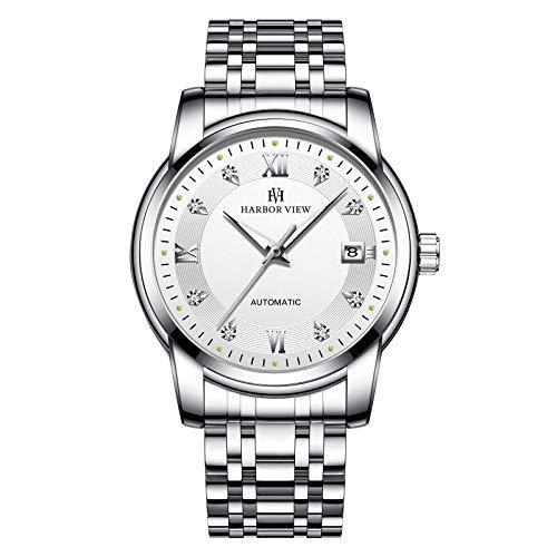 Automatische Mechanische Uhr Mode Uhr Männlich Business Finger Stahlgürtel Leuchtend Wasserdicht Weiße Nudeln aus Edelstahl