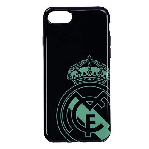LA CASA DE LAS CARCASAS RMCAR104 Carcasa Real Madrid Negra con Escudo Verde Iphone7/8/SE2