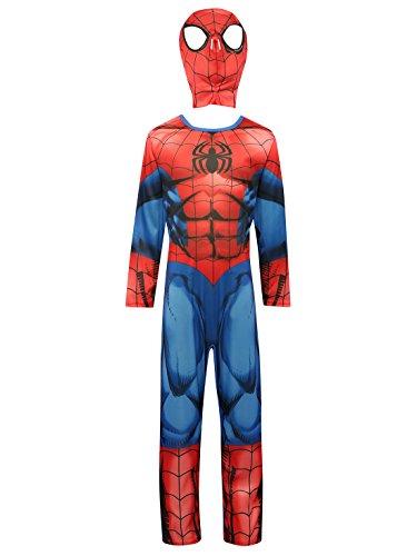 Marvel Superhero Spiderman pour enfant Personnage pleine longueur pour coiffeuse jusqu'Costume avec masque