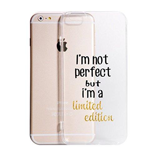 Social Crazy Cover iPhone 11 11 PRO XS - XR - XS Max-8-8 Plus - X - 6-6 Plus - 6S - 6S Plus - 7-7 Plus - I'm Not Perfect Trasparente UltraSottili AntiGraffio Antiurto