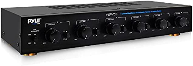 Premium New and Improved 6 Zone Channel Speaker Switch Selector Volume Control Switch Box Hub Distribution Box for Multi Channel High Powered Amplifier Control 6 Pairs of Speakers - Pyle PSPVC6