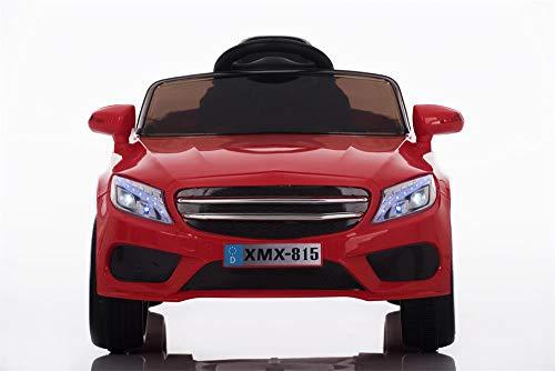 Babycar Auto per Bambini Macchina Elettrica per Bambini Babyfun ( Rossa ) Batteria 12 Volt con Telecomando 2.4 GHz Porte Apribili con MP3 e Chiavi