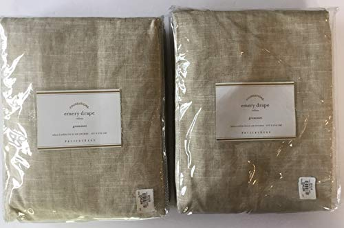 Pottery Barn Emery Linen Grommet Drape ~Set of Two Panels ~50' x 108~Oatmeal~
