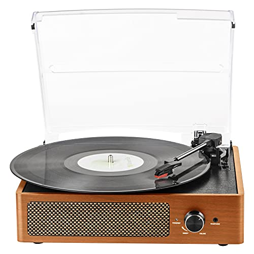 Record Player Bluetooth Turntable for Vinyl with Built-in 2 Speakers 3...