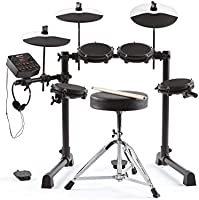Alesis Debut Kit – Kids Drum Set With 4 Mesh Electric Drum Set Pads, 120 Sounds, 60 Melodics Lessons, Drum Stool, Drum...