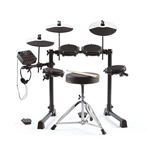 Alesis Debut Kit – Kids Drum Set With 4 Mesh Electric Drum Set Pads, 120 Sounds, 60 Melodics Lessons, Drum Stool, Drum Sticks and Headphones Maryland