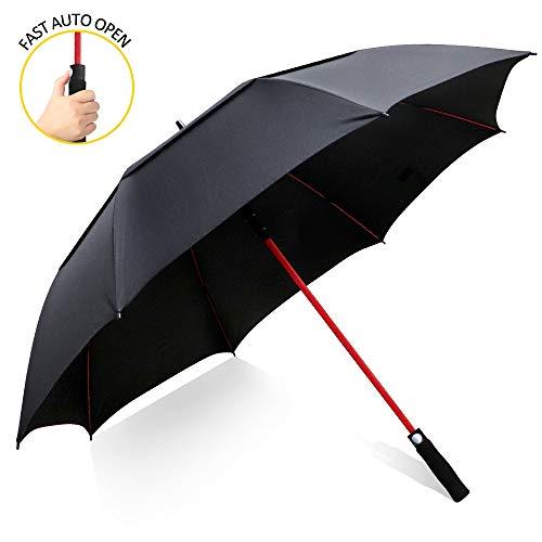 Zomake, 157cm, automatisch openen van golfparaplu, extra grote overkapping, luchtdicht, waterdicht