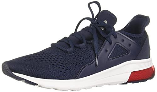 PUMA Electron Street Sneaker, Peacoat-Castlerock-High Risk Red, 10.5 M US