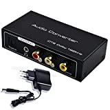 AMANKA HDMI ARC Audio Extractor, Digital HDMI ARC zu SPDIF Koaxial Optical Cinch L/R Stereo Ausgang 3,5mm 192KHz DAC Converter Optical Digital HDMI Audio auf Analog for für PS4 TV DVD Blu-ray