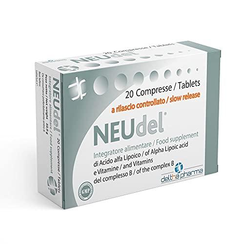 Neudel Integratore Alimentare Antiossidante e Antiage Acido Alfa Lipoico 600Mg a Rilascio Controllato Brevettato e Vitamine del Gruppo B, per la Funzionalità del...