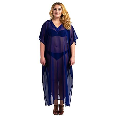 Miss Lavish London Kaftan ręcznie haftowane kawiarenki plażowe przykrycie kiimono letnie sukienki maxi